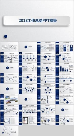 蓝色简约年终述职报告商务总结动态PPT模板
