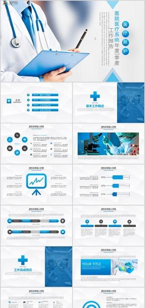 医院医疗系统年度季度工作报告PPT模板