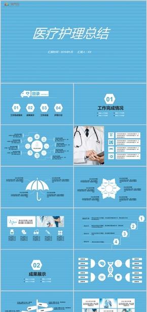 医院医疗医疗机构医学答辩医学报告PPT模板
