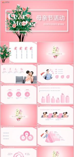 母亲节营销策划·促销宣传PPT模板