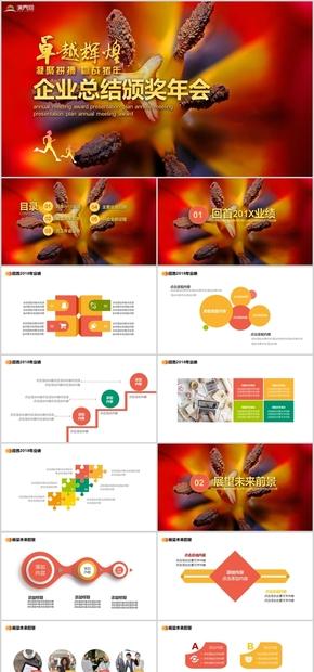 年会颁奖企业活动总结计划PPT模板