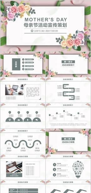 母亲节节日庆典活动策划PPT模板