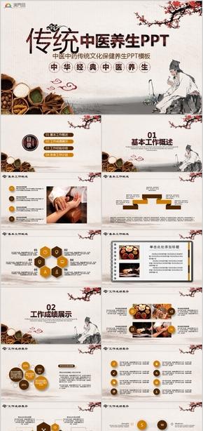 中医中药传统文化保健养生PPT模板