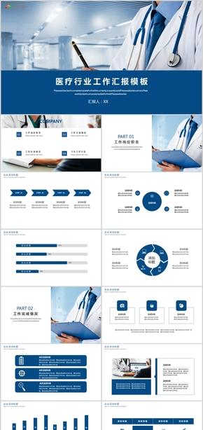 医院医疗护士工作总结总结计划项目汇报医学宣传动态PPT模板