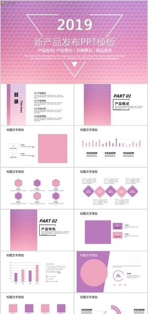 2019新产品发布产品策划营销策划商品发布PPT模板