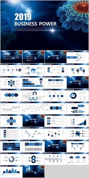 簡約風商務合作報告產品發布PPT模板