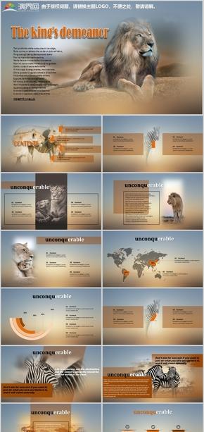 彩色商务风大自然动物杂志风时尚创意风月季年工作汇报商业计划书论文述职报告公司简介产品介绍PPT模板