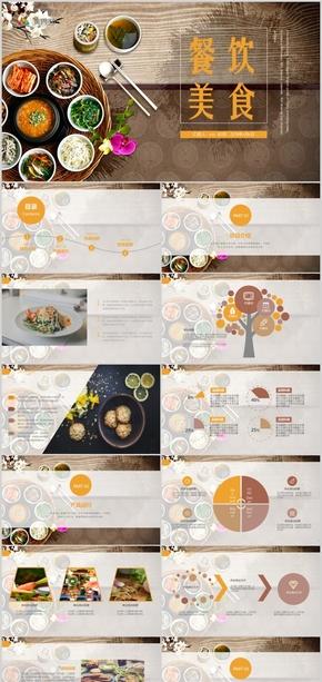 饮美食项目产品宣传展示通用PPT模板