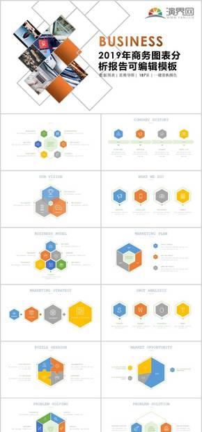 商务图表思维导图分析报告可编辑数据模板