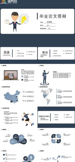财务管理毕业论文答辩PPT模板