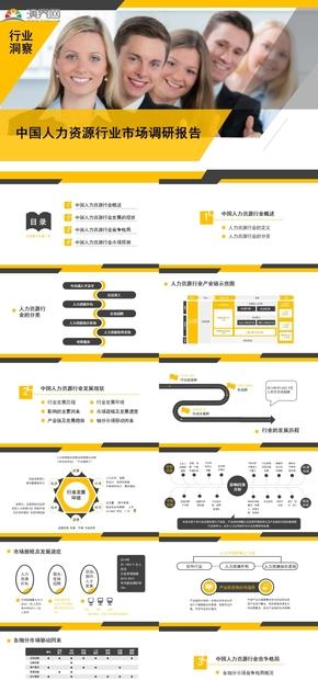 中國人力資源行業市場調研報告