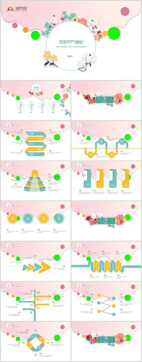 粉色糖果工作汇报PPT模板