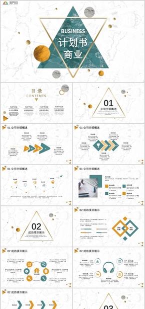 2019商业计划书项目展示投资要求PPT模板