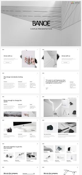 【轻简】轻主义简约简单设计排版商务时尚工作汇报ppt模板