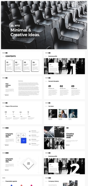 【规则】创意时尚个性商务蓝欧美汇报总结计划ppt模板