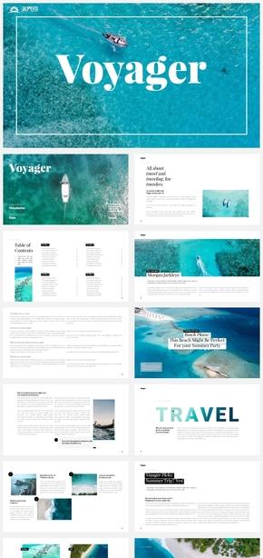 【自然】海岛海洋旅游自然风光摄影风景介绍ppt模板