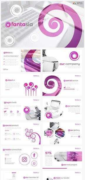 【风尚】紫色螺旋时尚女性商务工作汇报计划总结ppt模板