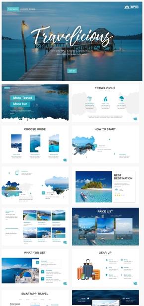 【自然】海岛海洋旅游旅行线路介绍度假游摄影ppt模板GGSJ78