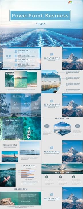 藍色歐美簡約商務咨詢工作計劃匯報PPT模板