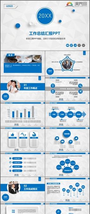商务报告工作计划总结汇报报告时尚动态PPT模板3