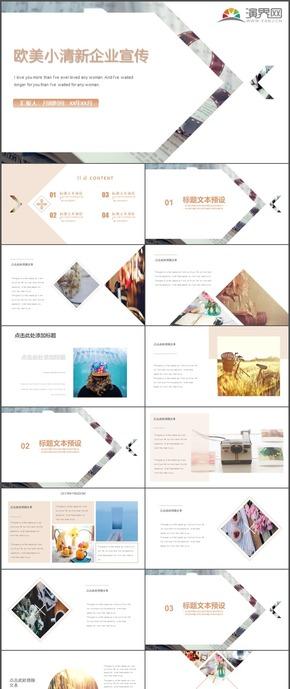 欧美小清新企业宣传企业形象部门介绍通用PPT模板12