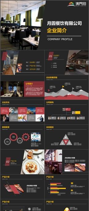 商务企业简介餐饮公司形象咖啡厅公司介绍PPT模板7