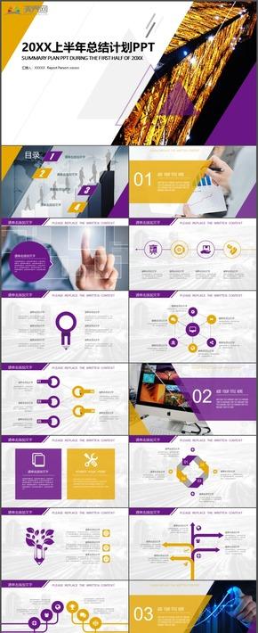 黃紫大氣高端商務金融理財工作計劃總結匯報報告通用PPT模板3