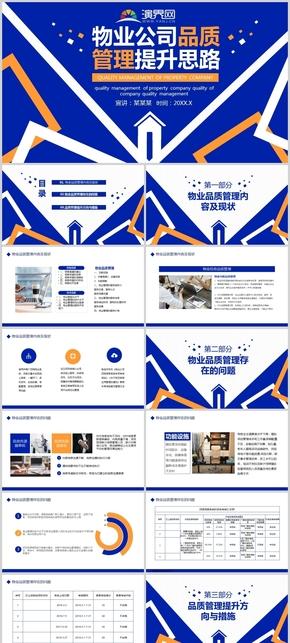 蓝色物业公司品质管理提升思路PPT模板