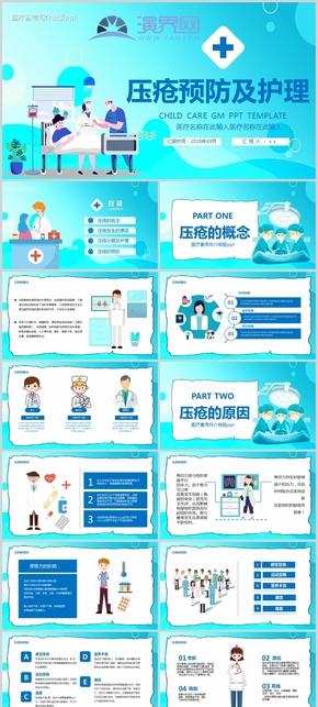 壓瘡預防及護理醫療宣傳簡介模版ppt模板