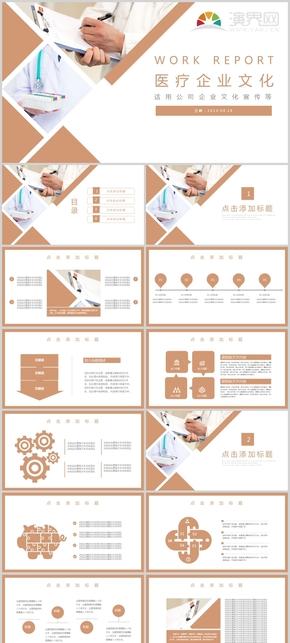 暖色醫療行業企業文化介紹PPT模板