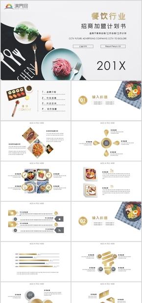 餐飲行業招商加盟計劃書PPT