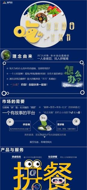 創業計劃書融資創投路演(動態科技互聯網產品)