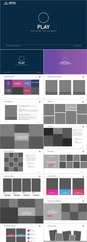 340頁小清新ins風拍攝攝影簡約精致圖文排版ppt模板
