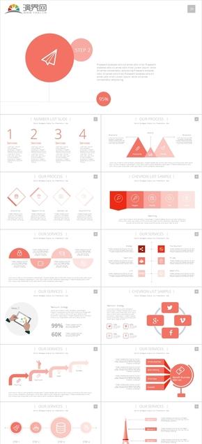 高端创意橙色企业商业计划书公司介绍项目策划
