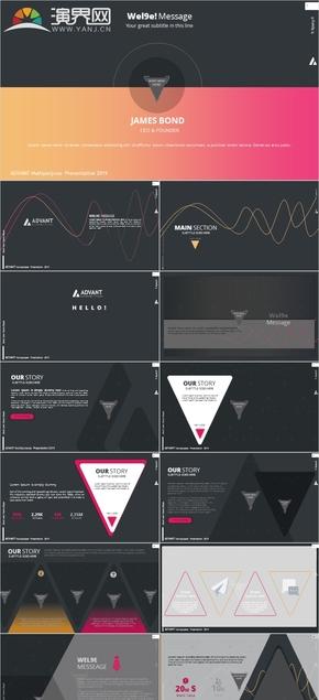 创意欧美杂志风创业书PPT模板