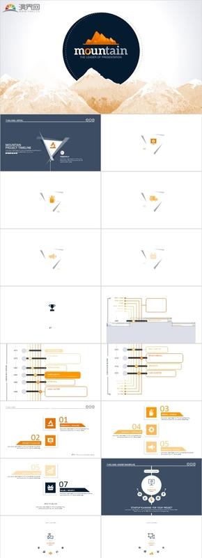 500頁科技感動態商務匯報模板