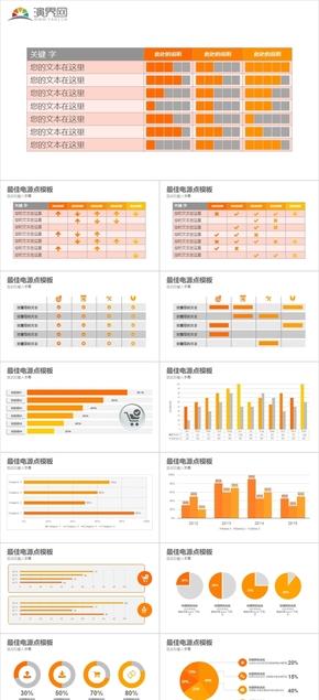 21頁橙色數據報表報告