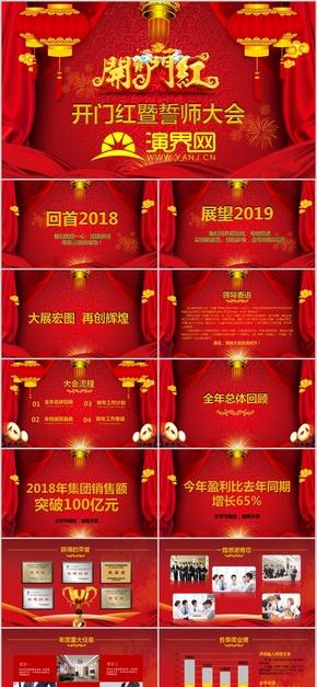 企业开门红庆典成立庆典喜庆红色企业介绍总结汇报(40