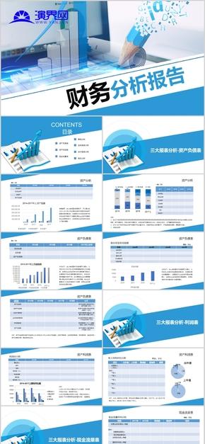 财务分析报告ppt模板报表统计图表数据分析工作总结计划金融-05