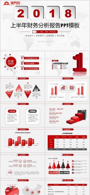 财务分析报告ppt模板报表统计图表数据分析工作总结计划金融 [03]