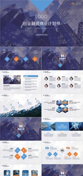 商務大氣創業融資融資路演項目計劃書創業計劃書商業計劃書動態模板