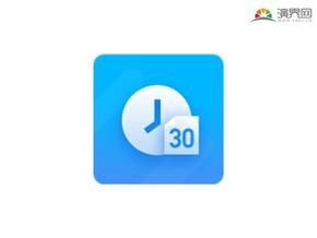 30数字蓝色渐变时钟图标 矢量图标 免抠元素