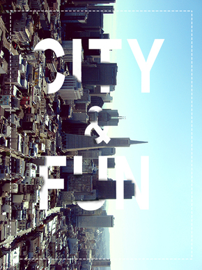 城市商务风格-立体英文海报-City&Fun