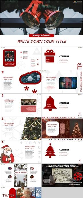 圣誕節平安夜節日慶典活動策劃產品介紹PPT模版