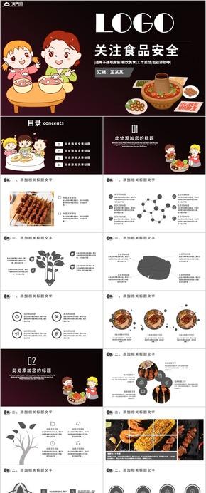食品安全調查匯(hui)報安全教育培訓簡約ppt模板