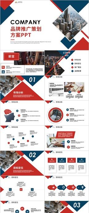 品牌推廣企業規劃方案介紹PPT模板商業推廣商業計劃書
