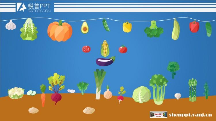 蔬菜水果大全可编辑ppt图标