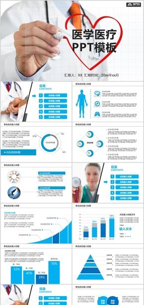 簡約大氣醫學醫療PPT模板