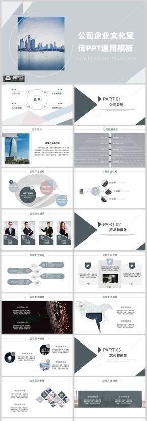 欧美风公司企业宣传PPT通用模板