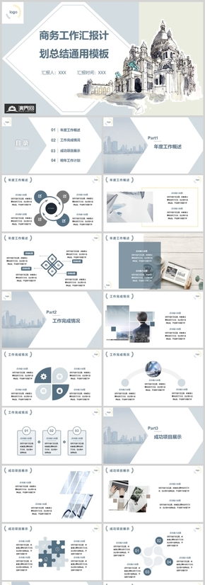 商務工作匯報計劃總結通用模板